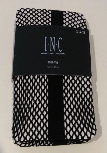 INC International Concepts Women/'s Tuxedo Fish Net Tights Black XS//S or M//L
