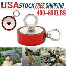 Red Fishing Magnet Two Sided Ring Pull Force Super Strong Neodymium Heavy Duty