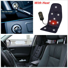 Car Chair Massage Heat Seat /Cushion Neck Pain Lumbar Support Pads Back Leg Mat