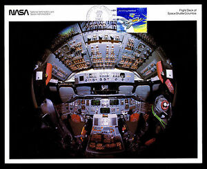 "1982 FLIGHT DECK OF SPACE SHUTTLE COLUMBIA - 8"" X 10"" PRINT - US#1914 (ESP#8483)"