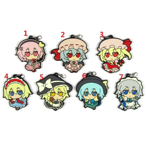 Anime TouHou Project Rubber Strap Charm Keychain KeyRing Komeiji Koishi Satori