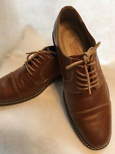b47800675e416 Dexter Comfort Memory Foam Men s Lace Dress Shoes Size 7.5 Cognac ...