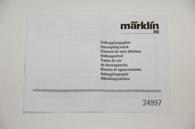 Märklin H0 - Original DESCRIPTION pour découplant 24997 - en parfaite condition