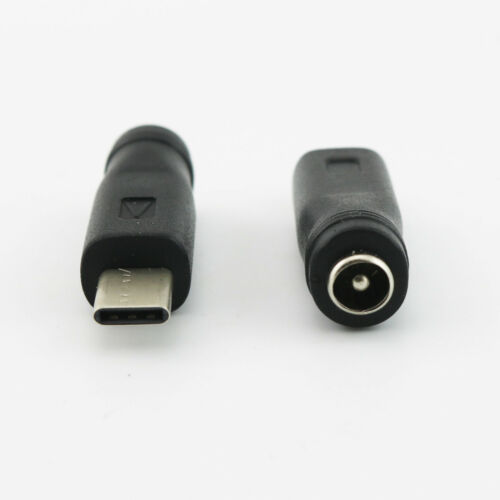 USB 3.1 Type C Male Plug to 5.5mm x 2.1mm Female DC Power Jack Adapter Connector