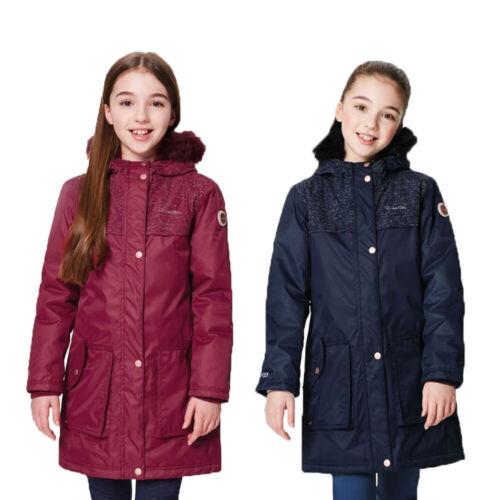 Regatta Halimah Girls Kids Waterproof Breathable Reflective Parka Jacket
