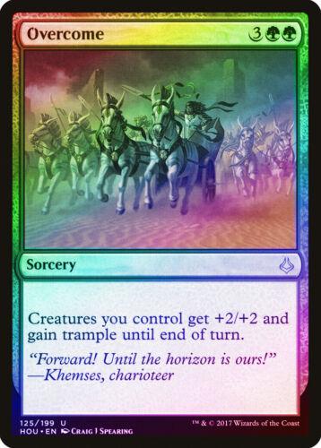 Overcome FOIL Hour of Devastation NM Green Uncommon MAGIC MTG CARD ABUGames