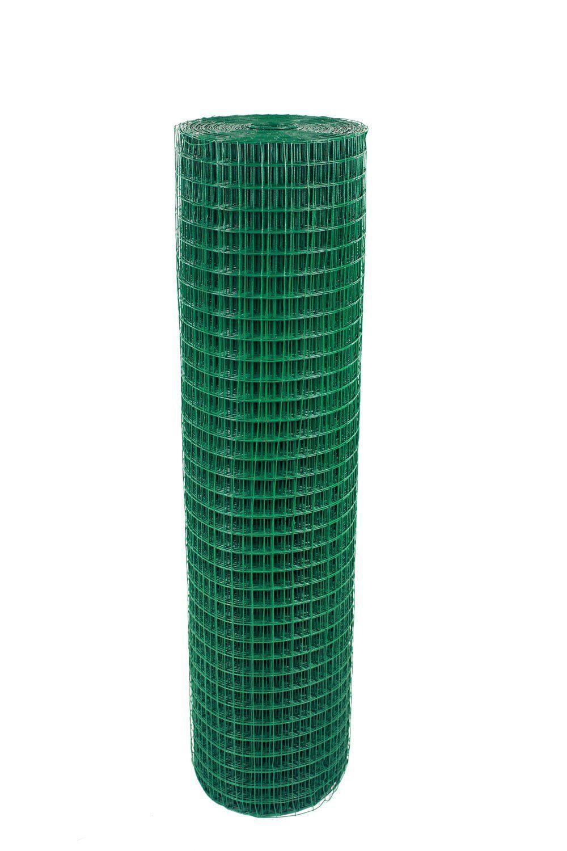 1 x1  rivestiti in PVC saldati Wire Mesh Voliera Recinto Scherma POLLO CONIGLIO GIARDINO UK