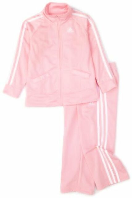 5355d4902c47 adidas Boys 2-7 Ag4660 Little Girls Iconic Tricot Jacket and Pant ...