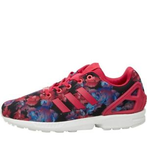 a6757e2ff Image is loading adidas-Originals-ZX-Flux-Trainers-Bold-Pink-Bold-