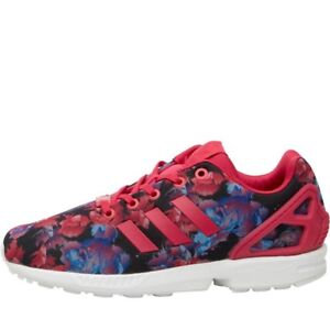 best authentic 6b1dd 01942 Details about adidas Originals ZX Flux Trainers Bold Pink/Bold Pink/White