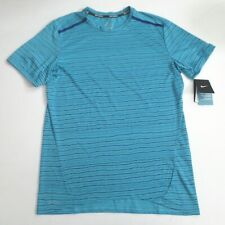 huge discount 0c71d 913a7 Nike Tailwind Dri Fit Running Shirt Turquoise Mens Medium 872018 418