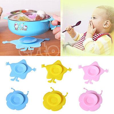 Handy Silicone Pad Baby Children Sucker Antiskid Feeding Bowl Mat Kitchen Tool