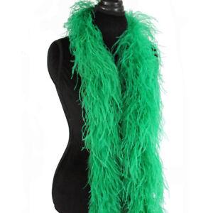 Aqua Blue 3ply Ostrich Feather Boa Scarf Prom Halloween Costumes Dance Decor