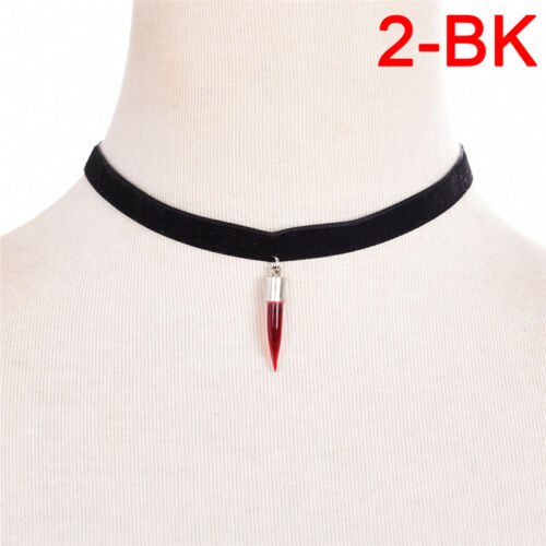 New Choker Blood Bottle Necklace PlasmaSPrue Love Bottle Gothic Vampire  HF