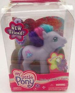 MLP-My-Little-Pony-G3-Tink-A-Tink-A-Too-New-In-Package-2003-with-Brush-and-Charm