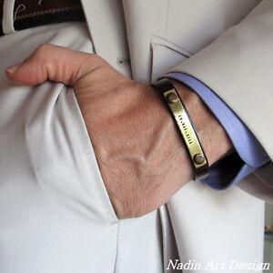 Leather Anniversary Gift Men Leather Bracelet. Leather Wrist Cuff Bracelet Genuine Adjustable  Leather Cuff Bracelet for Men and Women