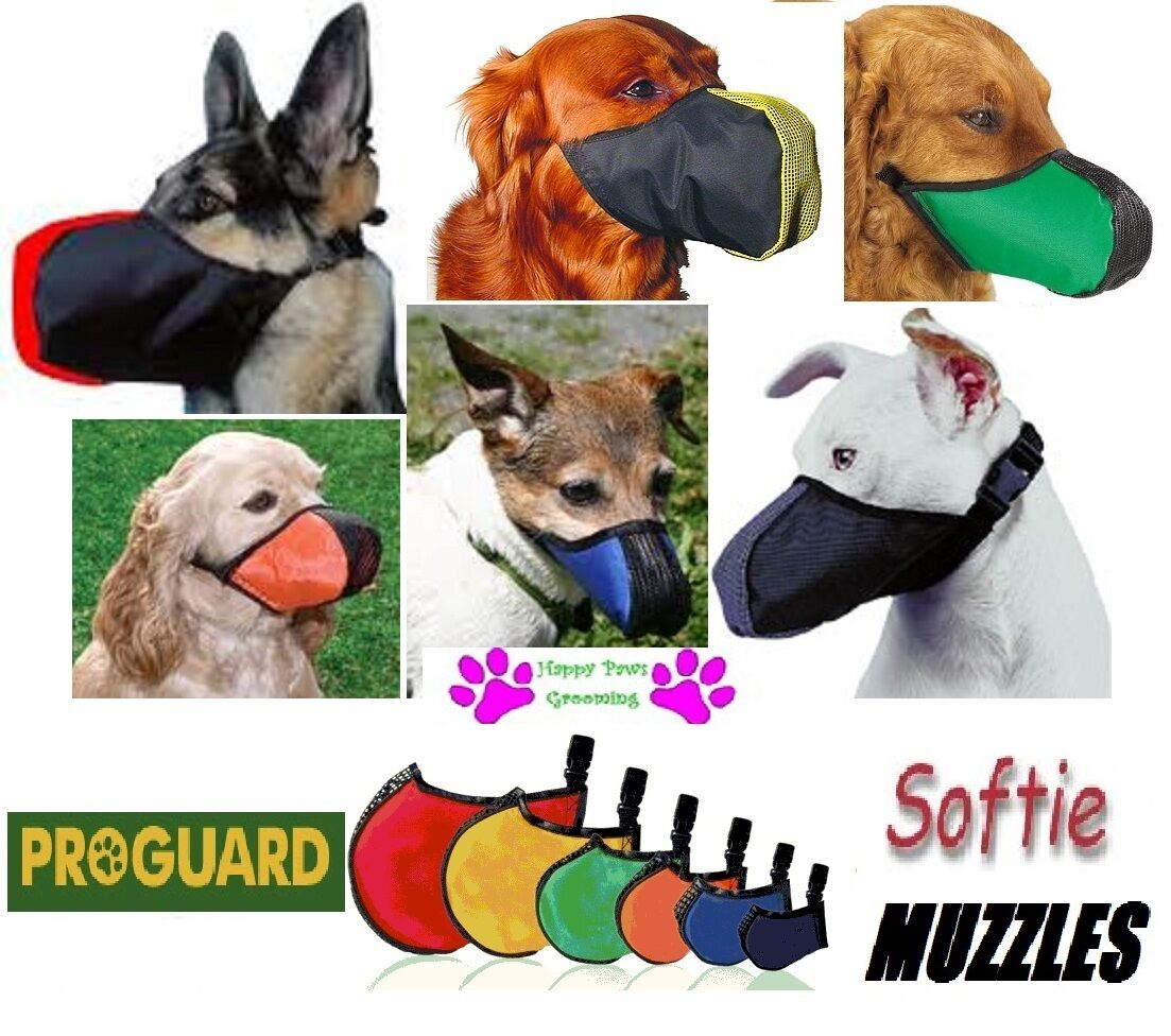LOT FULL 6 Piece SET ProGuard SOFTIE DOG MUZZLES ALL MUZZLE Breed SIZES Grooming