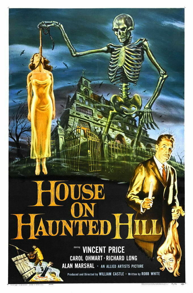 G3935 House On Haunted Hill Movie 1 VHS Vintage Laminated Poster UK