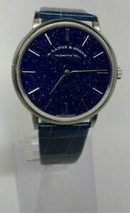 A. Lange & Sohne Saxonia Thin Copper Blue Wristwatch 205.086 White Gold