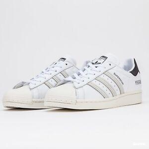 Adidas-Originals-Superstar-Blanc-Casse-en-Cuir-UK-12-Stan-Smith-Gazelle-OG-Noir