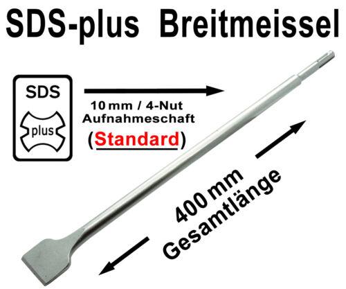SDS-plus Meißel Satz 6-tlg Flachmeißel Spitzmeißel Spat Breitmeißel Kanalmeißel