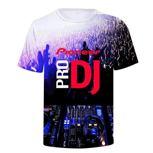 Women Men T-Shirt 3D Print Short Sleeve Tee Tops Proneer Dj Round Neck Casual