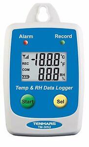 USB-Temperature-Humidity-Data-logger-Waterproof-IP-54-download-50-000-record