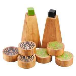 NEW Kathmandu Wooden Roll It Outdoor Adults Kids Family Summer Game Bright Blue