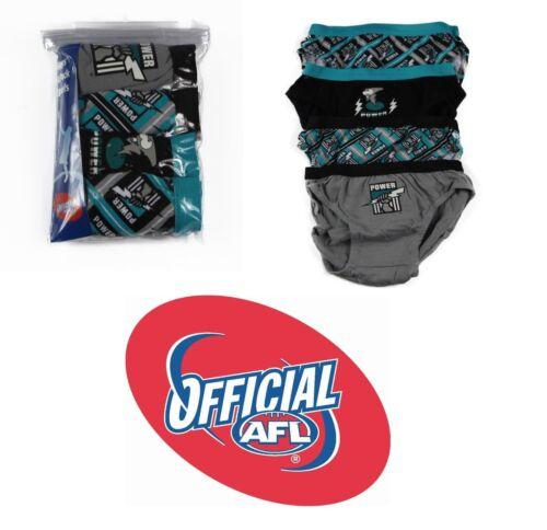 4 PACK  x BOYS PORT ADELAIDE POWER OFFICIAL AFL BRIEF Kids Underwear Jocks Undie