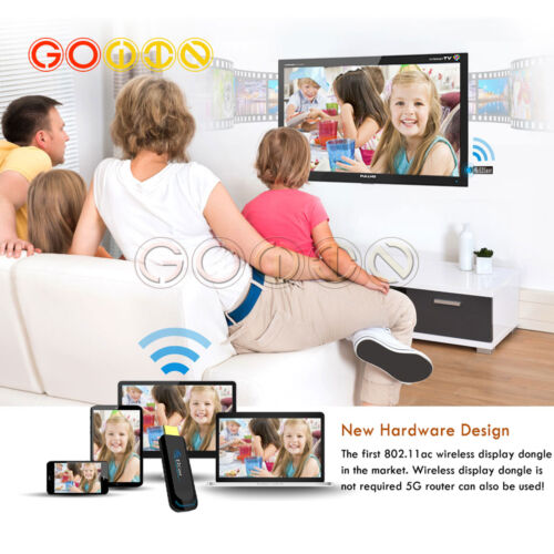 EZCast 2.4G//5G WiFi Display Dongle 1080P HDMI Media Streaming TV Stick Support