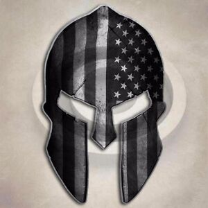 Subdued Flag Spartan Helmet Sticker American Tactical Arms Gun - Motorcycle helmet decals militarysubdued american flag sticker military tactical usa helmet decal