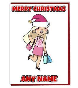 Auguri Di Natale Al Nipotino.Glamour Bambina Personalizzato Biglietto Auguri Di Natale Figlia