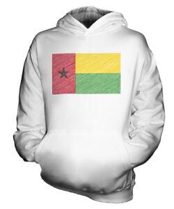 GUINEA-BISSAU-KRITZELTE-FLAGGE-KINDER-KAPUZENPULLOVER-HOODIE-JUNGEN-MADCHEN