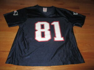 ea5723fb7 Reebok RANDY MOSS No. 81 NEW ENGLAND PATRIOTS (Women s Youth XL ...