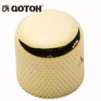 (1) Gotoh Vk1-18 - Control Knob - Dome - Bass, Guitar - Metal - Gold