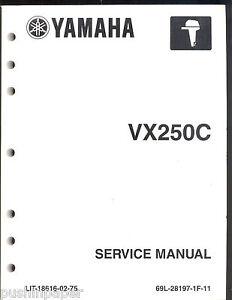 Yamaha Vx250 Manual Download