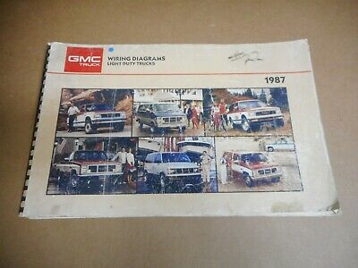 USED 1987 GMC Light Duty Truck Models, Electrical Wiring Diagrams | eBayeBay