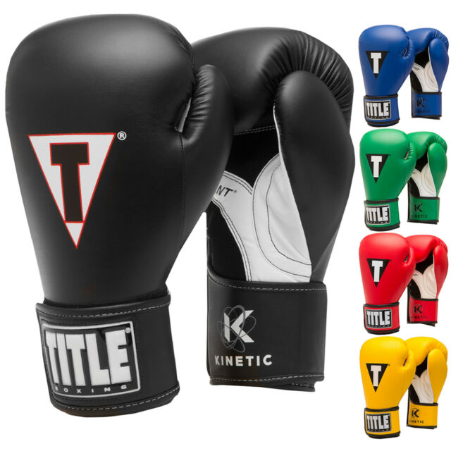 Title Boxing Platinum Proclaim Hook and Loop Training Gloves Black//Silver