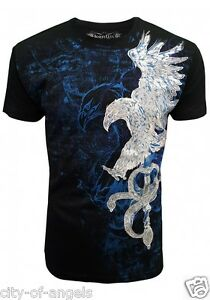 Konflic-NWT-Men-039-s-Eagle-amp-Sword-Graphic-Designer-MMA-Muscle-T-shirt