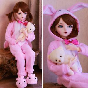 Mode-1-3-BJD-Puppe-60cm-Maedchen-veraenderbare-Augen-Kleidung-Full-Set-Doll