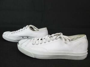849e04f069e7 Image is loading CONVERSE-JACK-PURCELL-WHITE-LEATHER-TENNIS-SNEAKER-SHOES-