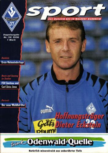 BL FC Carl Zeiss Jena FSV Zwickau DFB-Pokal 95/96 SV Waldhof Mannheim