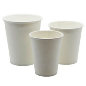 Disposable Recyclable Paper Cups Eco Friendly Great For Tea Coffee No Lids Ebay