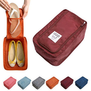 be3a0dfe55c2 Details about Waterproof Shoe Travel Pouch Portable Tote Organizer Storage  Bag Environmental