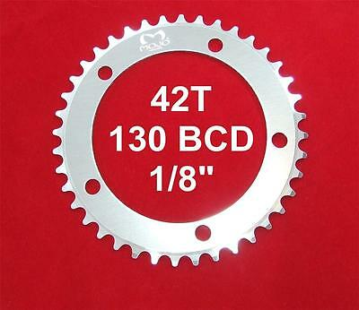 """130 BCD Track Fixie single speed 1//8/"""" RED MOJO Fixed Gear Chainring 42T"""