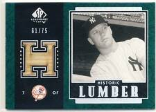 MICKEY MANTLE 2003 SP Legendary Cuts Historic Lumber BAT GREEN /75 YANKEES HOF *