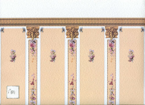 World /& Model 34521 Heavy  Wallpaper dollhouse miniature 1pc 1//12 scale