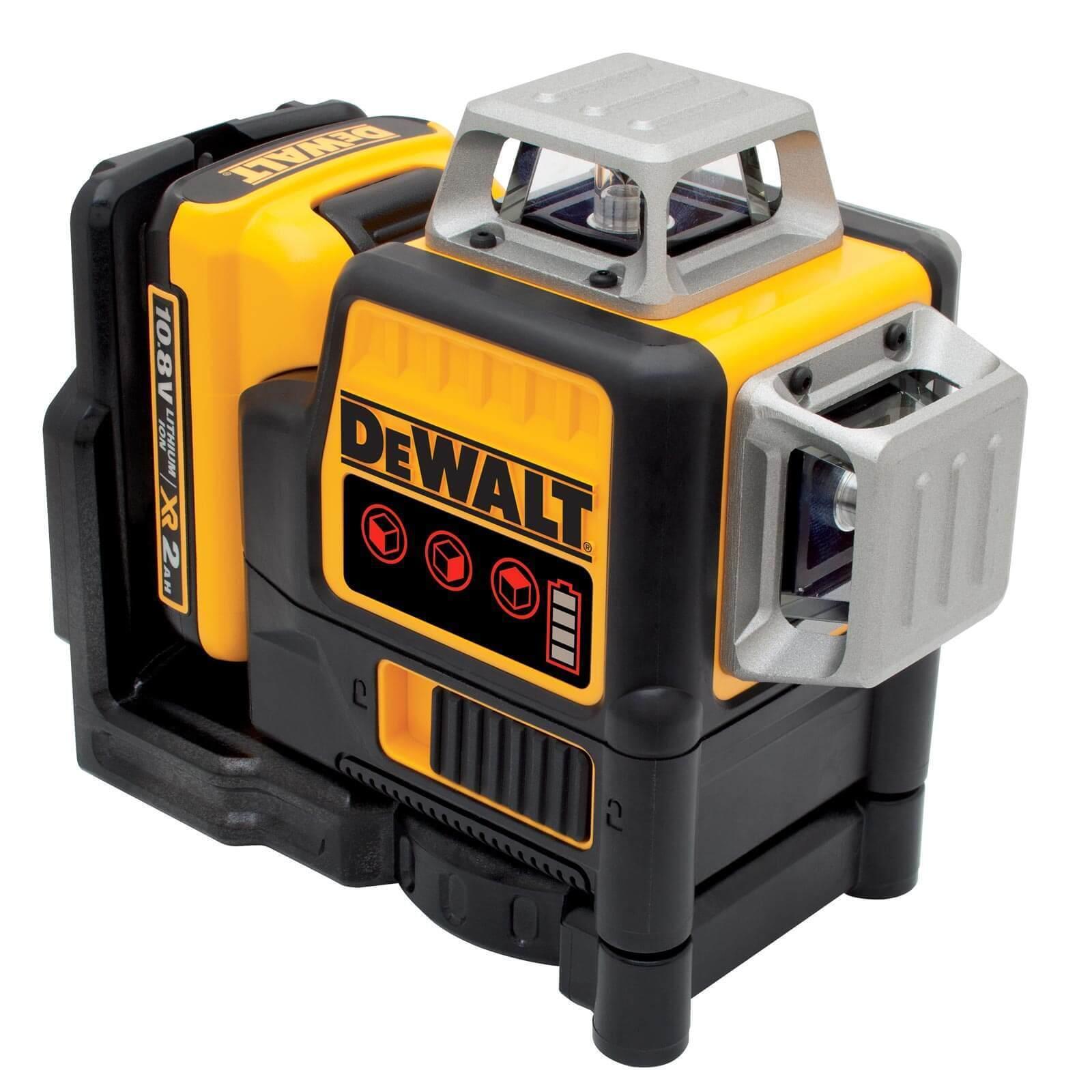 DeWALT Multilinienlaser DCE089D1R-QW 3x 360 Grad rot - Laser im Set 10,8 V 2 Ah