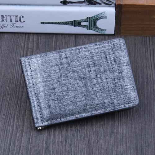 Men/'s PU Leather Slim Money Clip Front Pocket Wallet Thin Credit Card/& ID Holder