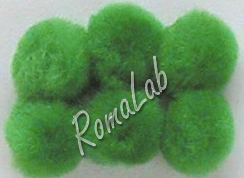 25 pom pom 25 mm ponpon verdi SCRAPBOOKING DECORAZIONI applicazioni BOMBONIERE